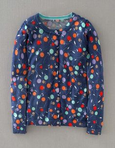 I've spotted this @BodenClothing Printed Cardigan Marine Blue Falling Bud