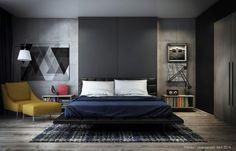 déco de chambre avec tableaux d'art contemporain