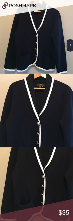 """Ralph Lauren 2X black cardigan sweater jacket Classic and sophisticated Ralph Lauren 2X 100% cotton, black cardigan sweater jacket. Dimensions taken while garment is laying flat and button closed: 18"""" across shoulders, 50"""" bust, 45"""" waist, 48"""" hips, sleeve length 26"""" and length from shoulder to bottom hem 26"""". Ralph Lauren Sweaters Cardigans"""