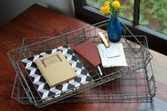 Check out the Wire Mesh Trays in Boxes, Baskets, & Bins, Storage & Organization from Lawson Fenning for Cafe Shop, Study Office, Wire Mesh, Homemade Crafts, Pretty And Cute, Desk Accessories, Simple House, Furniture Decor