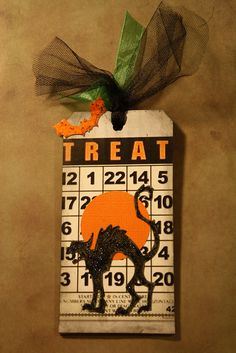 halloween use the tulle for goodie bags!