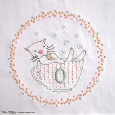 Embroidery Pattern PDF O is for Otter In a от sherimcculley