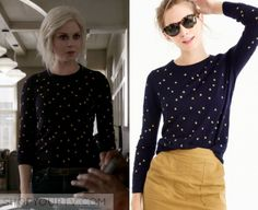 """iZombie: Season 3 Episode 9 Liv's Black Star Print Sweater 