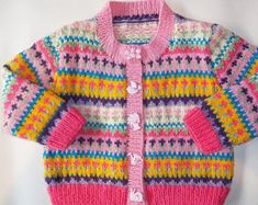 Image result for knitting patterns fair isle cardigan