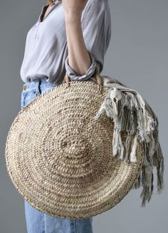 Large Round Market Basket