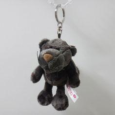 New Nici Black Leopard 4in 10cm Plush Doll Bag Keyring Key Holder Chain #Nici