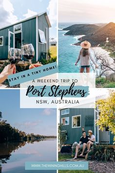 Visit Port Stephens! Located about 2.5 hours north of Sydney, Australia, drive up to this beautiful coastal town. Stay in a tiny home with Riparide for the best experience! #portstephens #riparide #australia #visitnsw #australiavacation #roadtripsfromsydney Australia Travel, Sydney Australia, Coogee Beach, Fiji Travel, Visit Argentina, Visit Sydney, New Zealand Travel, Beaches In The World, Weekend Trips