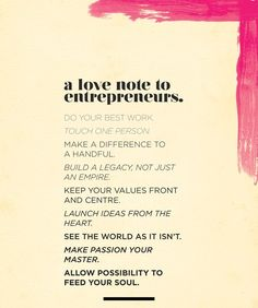 Inspiration for entrepreneurs
