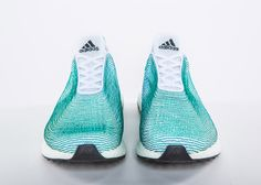 Adidas unveils sports shoes made from recycled ocean waste.