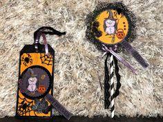 Helihak: Halloween tag och lollipop card....