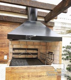 Wood Grill, Grill Oven, Bbq Grill, Outdoor Pavilion, Outdoor Pergola, Parilla Grill, Parrilla Interior, Bbq Steak, Fire Pit Grill
