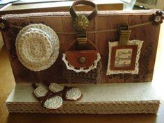 Interior Goods オーナメント ミニチュア飾り棚 雑貨 ブラウン ハンドメイド インテリア Handmade ¥670yen 〆05月18日