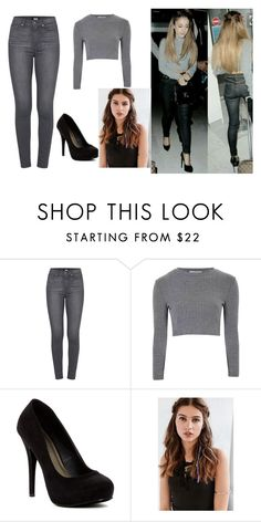 """""""4"""" by adara-aijem on Polyvore featuring Paige Denim, Glamorous, Michael Antonio and REGALROSE"""