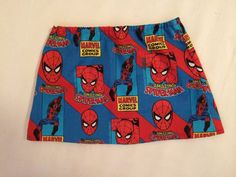 This 100% cotton Spider-Man skirt has an elastic waistband for extra comfort. Your little spider girl will love this. Perfect for any Marvel