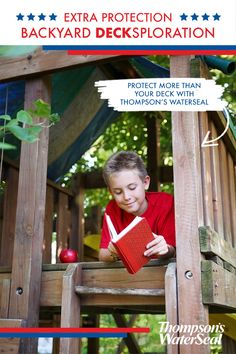 Looking for some extra backyard fun? Try installing a playground for your family. When it comes to a wooden playground, you can make sure it lasts as long as the fun by protecting it with Thompson's WaterSeal. Bonus points if you build it yourself!