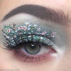 eye makeup artist almond blossom van gogh eyelid Be featured in Model Citizen Ap. Eye Makeup Art, Eyeshadow Makeup, Makeup Inspo, Lip Makeup, Makeup Inspiration, Eyeliner, Eye Art, Makeup Style, Cool Makeup Looks