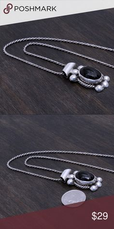 """‼️Clearance‼️Vintage Sterling Pendant & Chain Stamped """"925"""". Chain is 17.5 inches long   Sterling silver is an alloy of silver containing 92.5% by mass of silver and 7.5% by mass of other mThe sterling silver standard has a minimum millesimal fineness of 925.   All my jewelry is solid sterling silver. I do not plate.   Hand crafted in Taxco, Mexico.  Will ship within 2 days Jewelry Necklaces"""