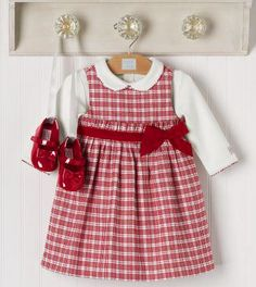 Rouge Check Dress ~ Janie and Jack