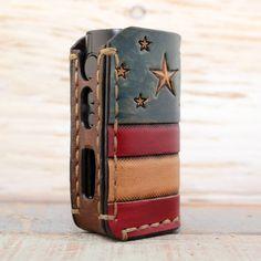 USA amerikanische Flagge Custom Distressed Leder von SillyNilly