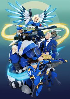 Overwatch - Uprising Skins Just imagine your team looks like that