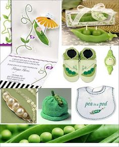 Pea in a pod baby shower theme
