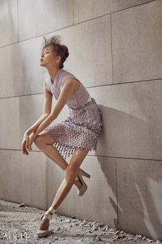 """Ballet Fairy"": Kim Bo Sung in Vogue Korea February 2015 