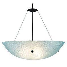 "WPT Design 3 Light Bowl Inverted Pendant Glass Color: Whirlpool Amber, Drop: 31"""