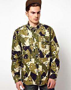 Denim Demon Overshirt Jacket Miltary Camo Print