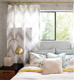 grey zigzag drapes for the bedroom?