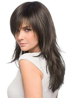Brown Straight Remy Human Hair Easy Long Woman Wigs,JFW0004