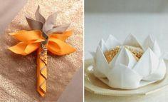 zarte Blüten-Wasserlilien aus servietten gestaltet-Falttechniken einfach