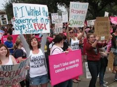 "prochoice rally! ""If I wanted the government in my womb, I'd fuck a senator!"""
