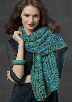 Ocean Elegance Shawl {easy} | All Free Knitting