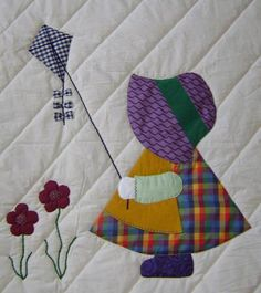 Sun bonnet sue quilt patterns free | Sunbonnet Sue Evalyn Quilt