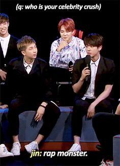 And then there's Jimin, shipping Namjin almost as much as we ship them.