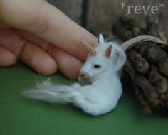 OOAK Realistic Miniature ~ Baby Unicorn ~ Handmade 1:12 Sculpture * Reve #Handmade
