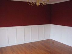 like this.. half and half panelled walls but different colour   mi