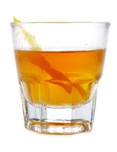 Sazerac  Ingredients  1 sugar cube  2 1/2 ounces rye whisky  2 dashes Peychaud's bitters  1 dash Angostura bitters  absinthe  lemon peel    Glass Type: old-fashioned glass