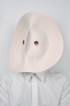 Bertjan Pot, another Dutch designer seeking the border of hood, mask en hidding. Nice and simple example in my Little Hat Hidding Hood series. txt re[d]fine