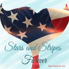 Stars and Stripes forever ❤️ #mermaidlife