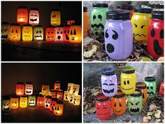 Jar luminaries halloween decoration
