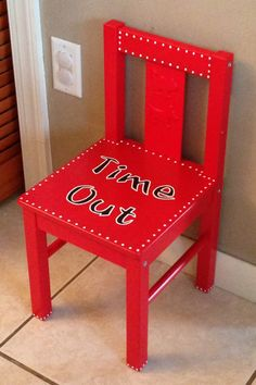 Time Out Chair. We have one. I rather put them in time out at 4 years old then having a belt to them. The belt won't come out till older like 7 or 8. But thank God my kids aren't bad. (: