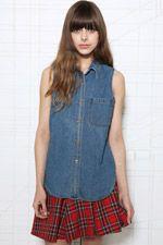 Vintage Renewal 90's Denim Sleeveless Shirt