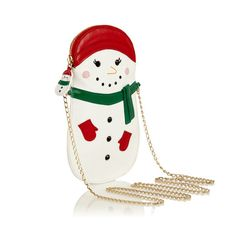 Minaudière Snowman http://www.vogue.fr/mode/news-mode/diaporama/la-collection-jingle-all-the-way-de-charlotte-olympia/10954#!minaudiere-snowman
