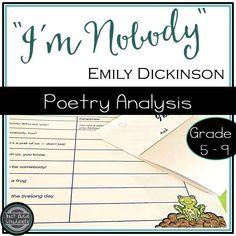 Your students will love this Emily Dickinson poem that still rings true today! Poems For Middle School, Preschool Poems, Emily Dickinson Poems, Script, Poetry Activities, Teaching Poetry, Teaching Reading, Poetry Lessons, Middle Schoolers