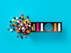 Packaging designed by Bond for confectionery brand Allsorts.