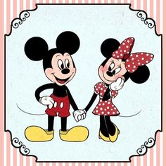 Mickey and Minnie Disney Artwork, Disney Fan Art, Disney Pins, Disney Love, Mickey Mouse And Friends, Mickey Minnie Mouse, Disney Mickey, Minnie Mouse Pictures, Disney Pictures