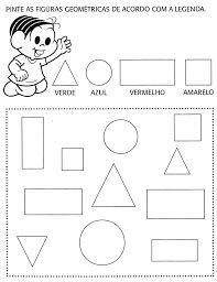 Resultado de imagem para atividades formas geometricas educação infantil imprimir