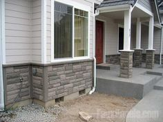 Artificial stone panels, ledgers and corners create a complete design scheme without being overpriced.