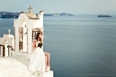 Intimate wedding at Aenaon Villas, Santorini wedding venue | Vintage Rustic Style